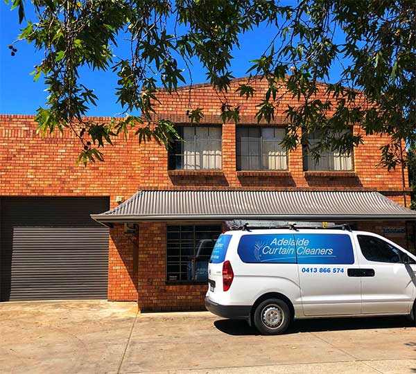 Adelaide Curtain Cleaners shop front and vehicle